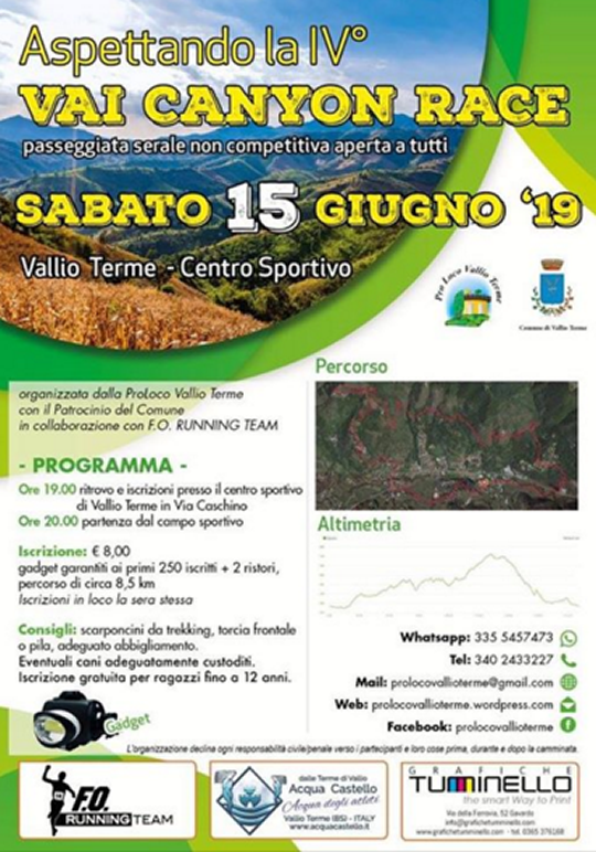 Vai Canyon Race a Vallio Terme
