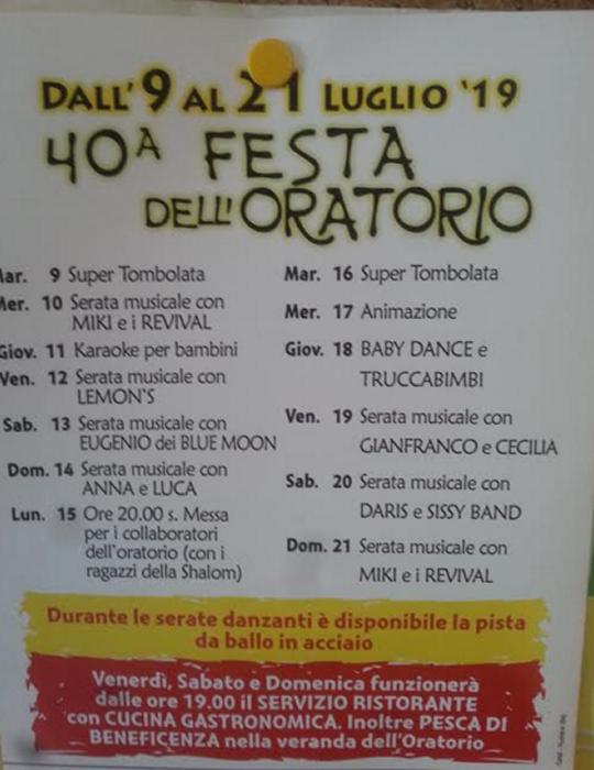 40° Festa dell'Oratorio a Rudiano