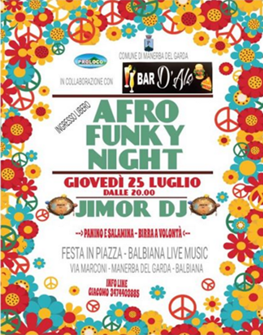 Afro Funky Night a Manerba del Garda