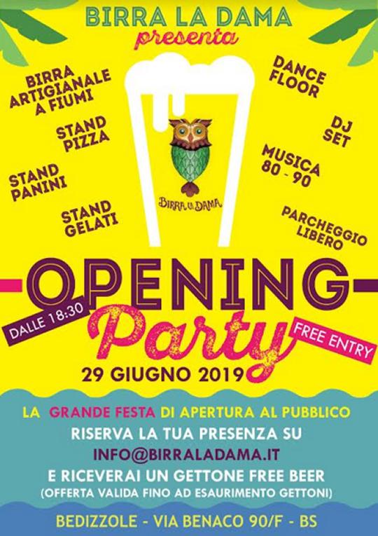 Birra La Dama Opening Party a Bedizzole