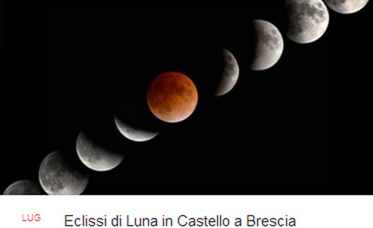 Eclissi di Luna in Castello a Brescia