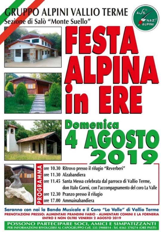 Festa Alpina in Ere a Vallio Terme
