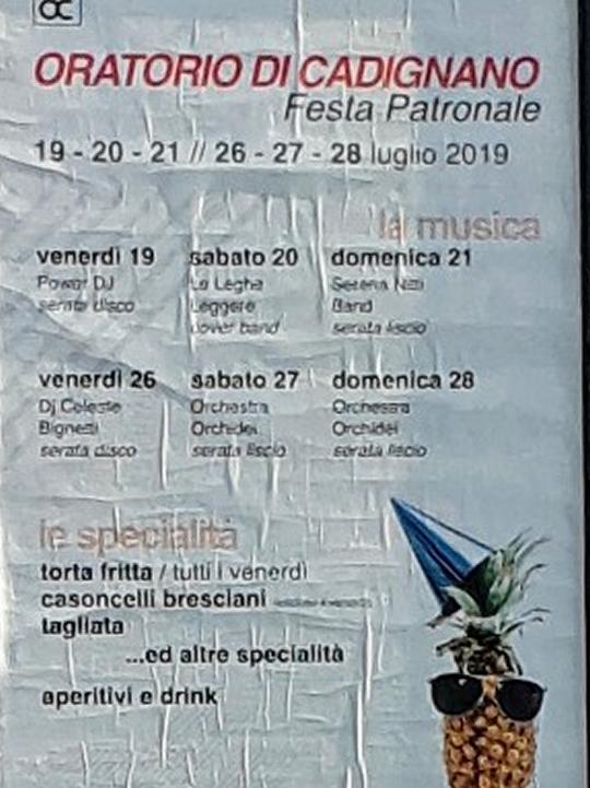 Festa Patronale Oratorio di Cadignano