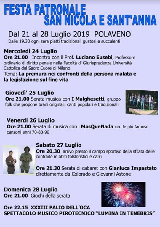 Festa Patronale San Nicola e Sant'Anna a Polaveno