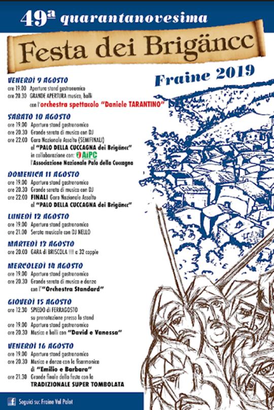 Festa dei Brigancc a Fraine