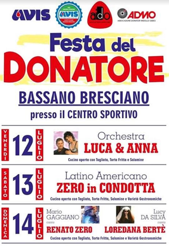 Festa del Donatore a Bassano Bresciano