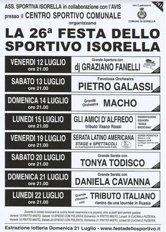 Festa dello Sportivo a Isorella
