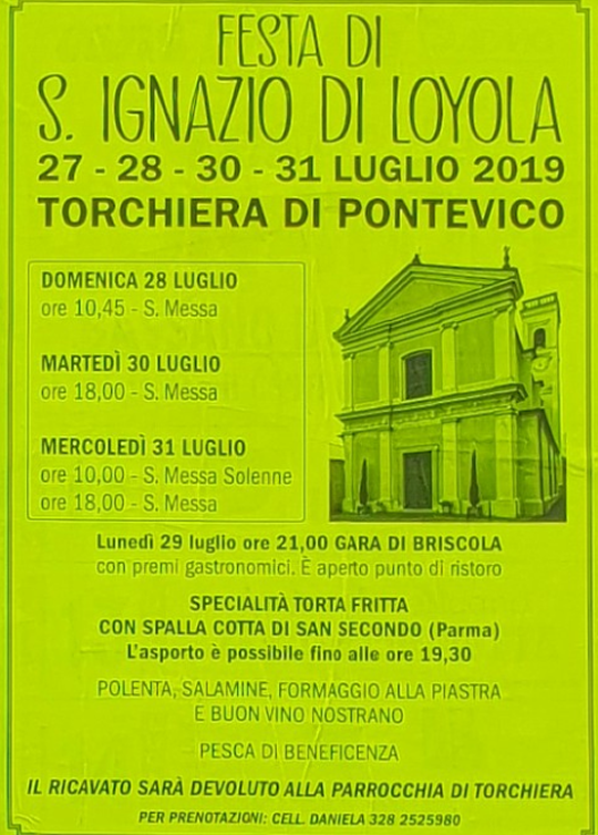 Festa di Sant'Ignazio di Loyola a Pontevico