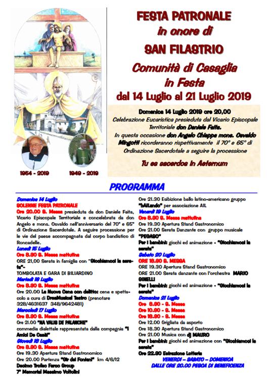 Festa patronale San Filastrio a Torbole Casaglia