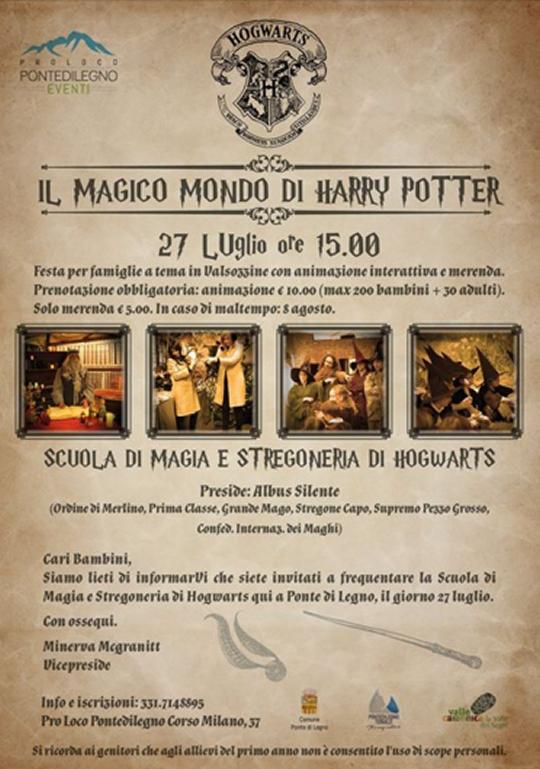 Il Magico Mondo di Harry Potter a Ponte di Legno