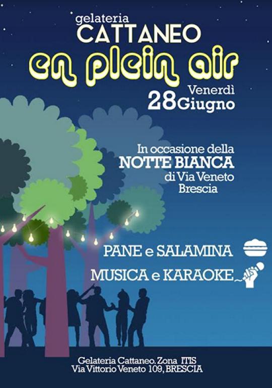Notte Bianca a Brescia Via Veneto