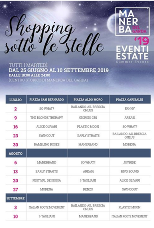 Shopping Sotto le Stelle a Manerba