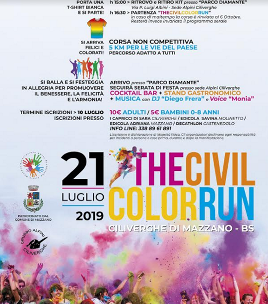 The Civil Color run a Mazzano