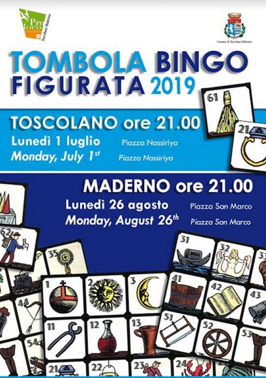 Tombola figurata tradizionale a Toscolano Maderno