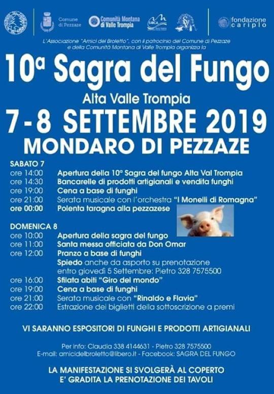 10° Sagra del Fungo a Mondaro di Pezzaze