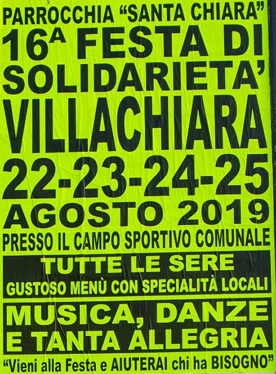 16 Festa di Solidarietà di Villachiara