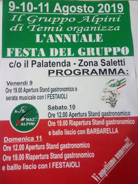 Annuale Festa del Gruppo Alpini a Temù