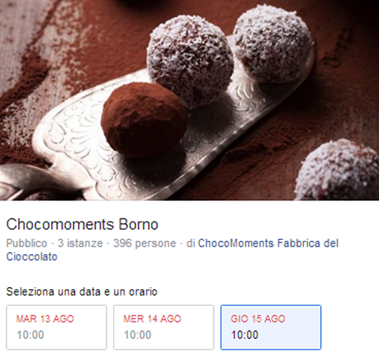 Chocomoments a Borno