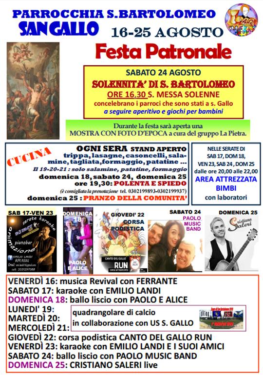 Festa Patronale S Bartolomeo a Botticino