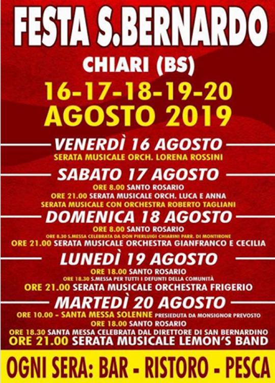 Festa S.Bernardo a Chiari