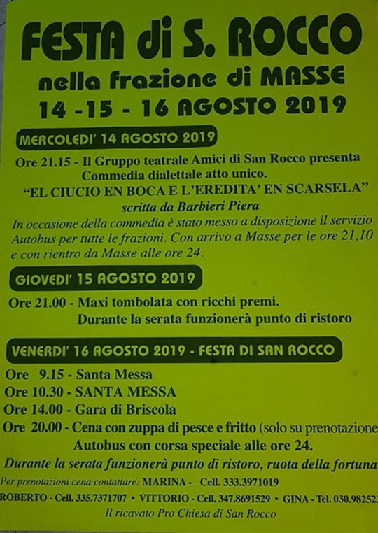 Festa di S. Rocco a Masse di Monte Isola
