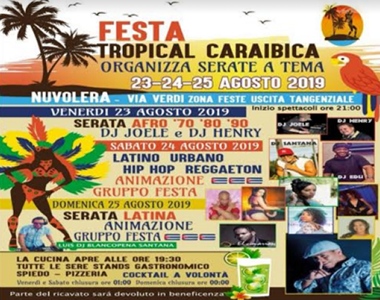 Festa tropical caraibica a Nuvolera