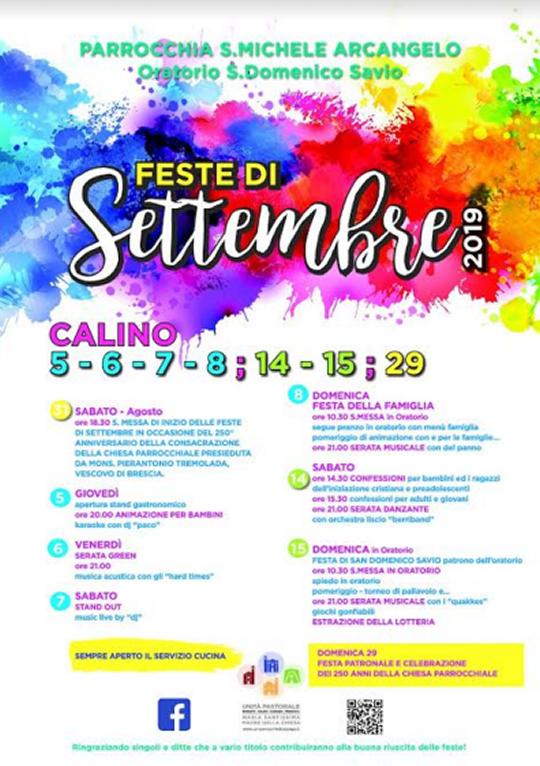 Feste di Settembre a Calino