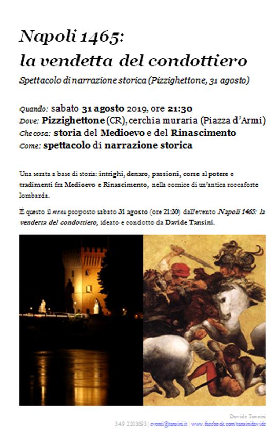 Napoli 1465  la vendetta del condottiero a Pizzighettone