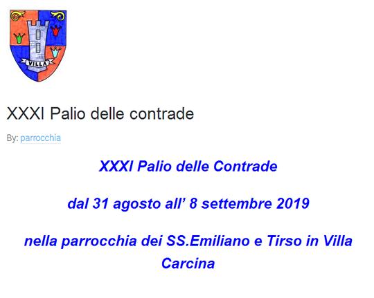 Palio delle Contrade di Villa Carcina