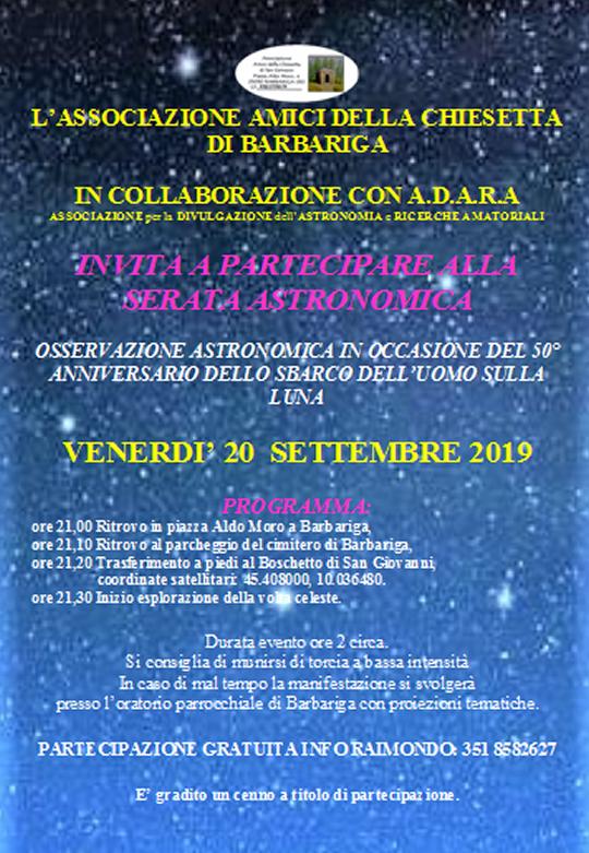 Serata Astronomica a Barbariga