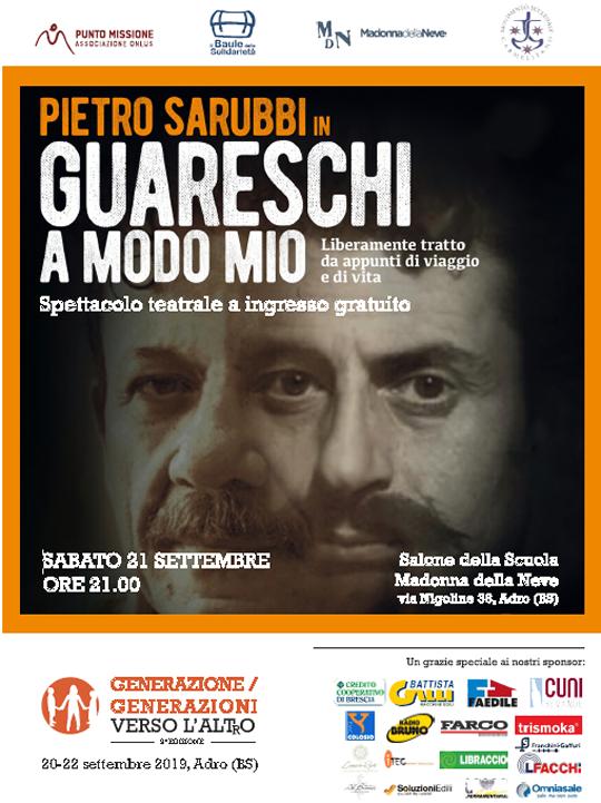 Pietro Sarubbi in Guareschi a Modo Mio Adro
