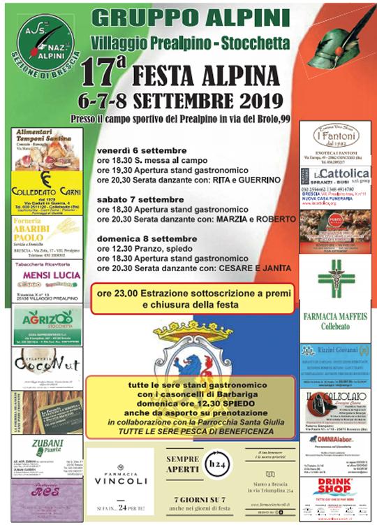 17° Festa Alpina Gruppo Alpini Villaggio Prealpino-Stocchetta
