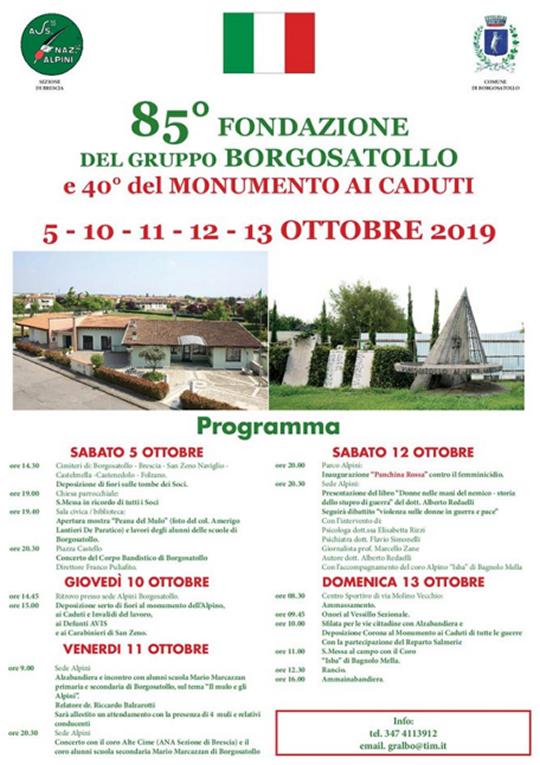 85° Fondazione del Gruppo Alpini Borgosatollo