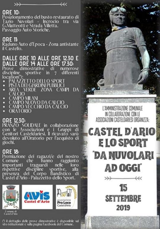 Castel d'Ario e lo Sport da Nuvolari ad Oggi