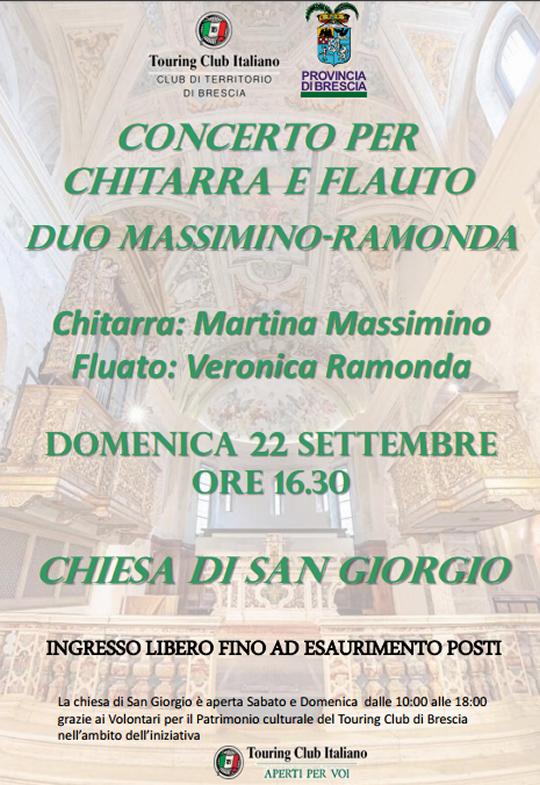 Concerto per Chitarra e Flauto a Brescia