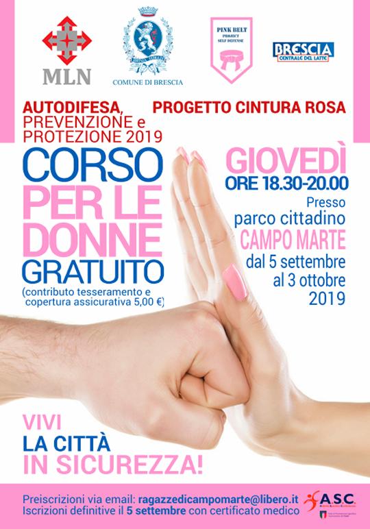 Corso Autodifesa per le Donne a Brescia