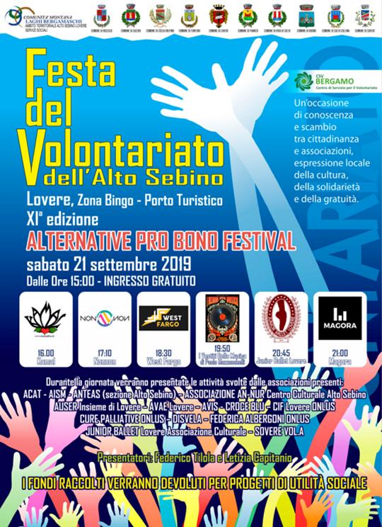 Festa del volontariato dell'Alto Sebino a Lovere