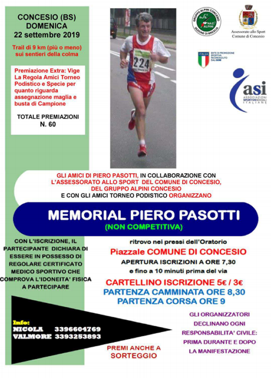 Memorial Piero Pasotti a Concesio