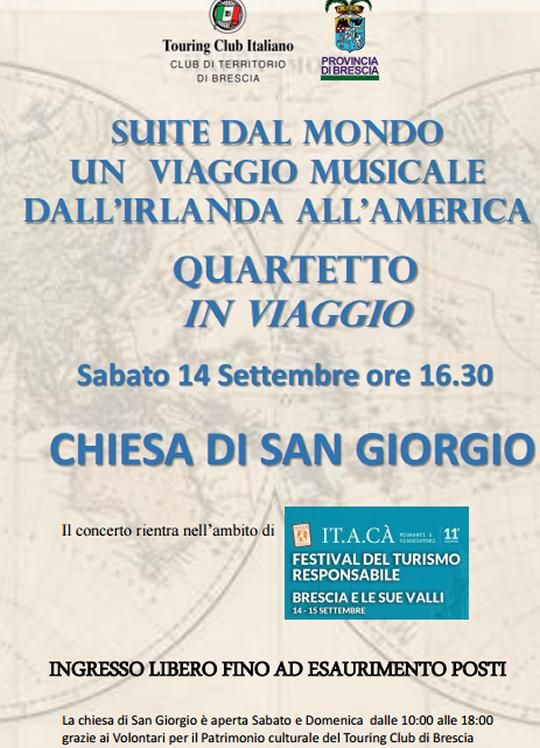 Suite dal Mondo un Viaggio Musicale dall'Iralnda all'America a Brescia