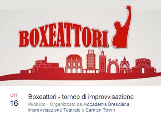Boxeattori - torneo di improvvisazione a Brescia