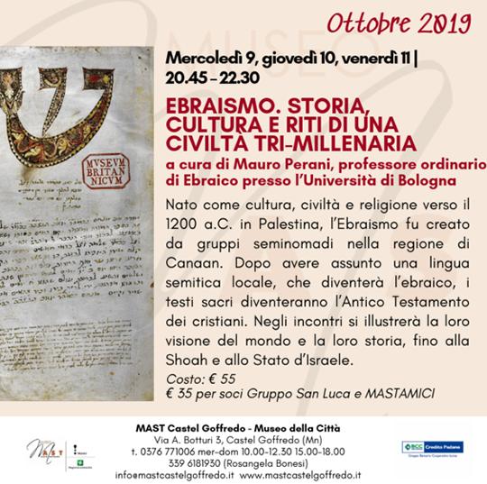 Ebraismo Storia Cultura e Ridi di una Civiltà Tri-Millenaria a Castel Goffredo MN