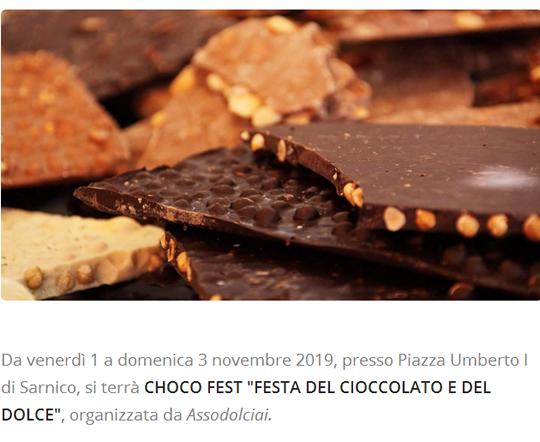 Festa del Cioccolato e del Dolce a Sarnico