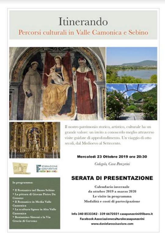 Itinerando, percorsi culturali in Valle Camonica e Sebino