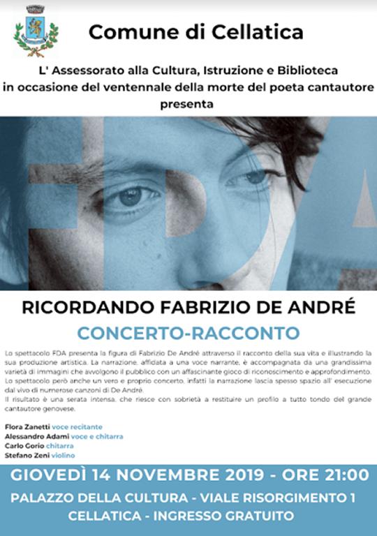 Ricordando Fabrizio De Andrè a Cellatica