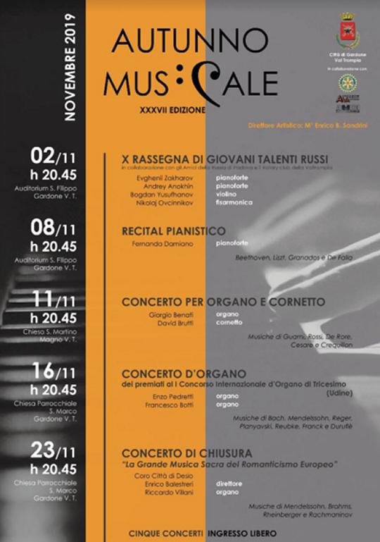 Autunno Musicale a Gardone Val Trompia