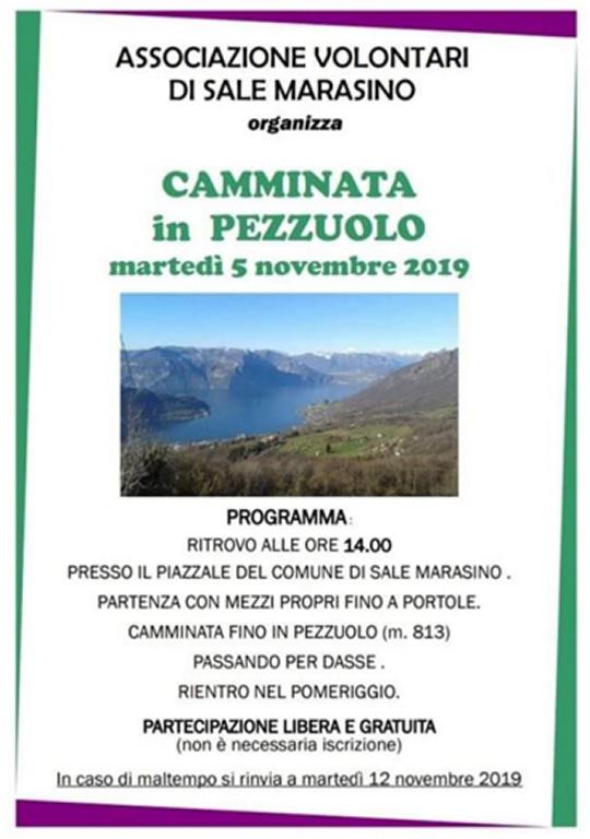 Camminata in Pezzuolo a Sale Marasino