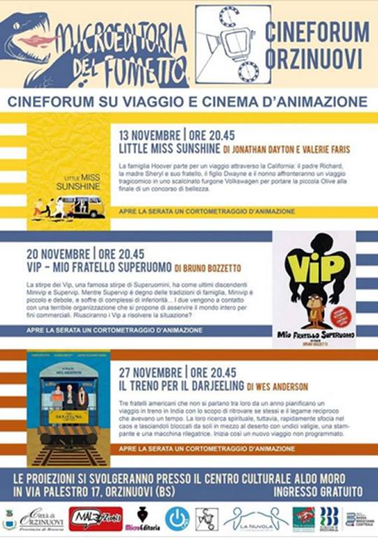 Cineforum su viaggio e cinema d'azione a Orzinuovi