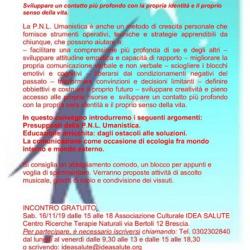 Educarsi al Bene con la PNL Umanistica a Brescia