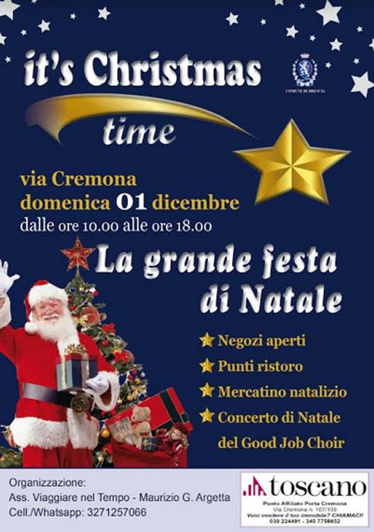 Grande Festa di Natale di via Cremona a Brescia
