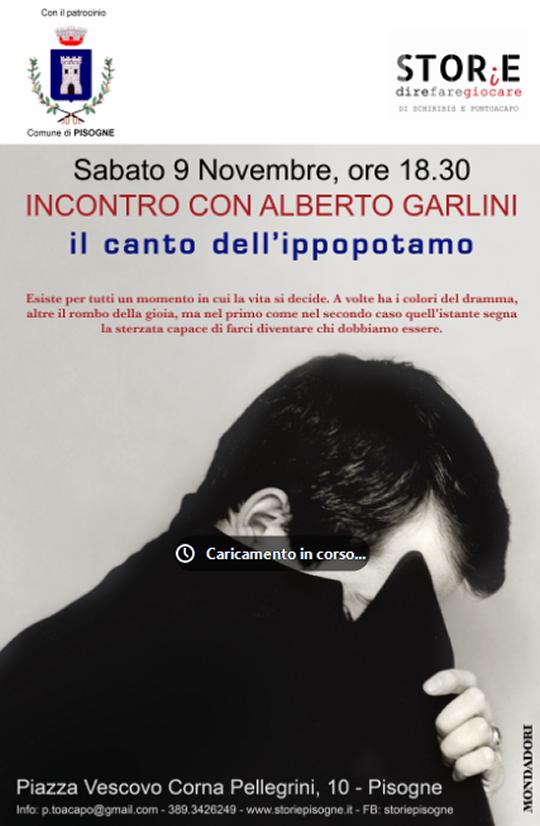 Incontro con Alberto Garlini a Pisogne